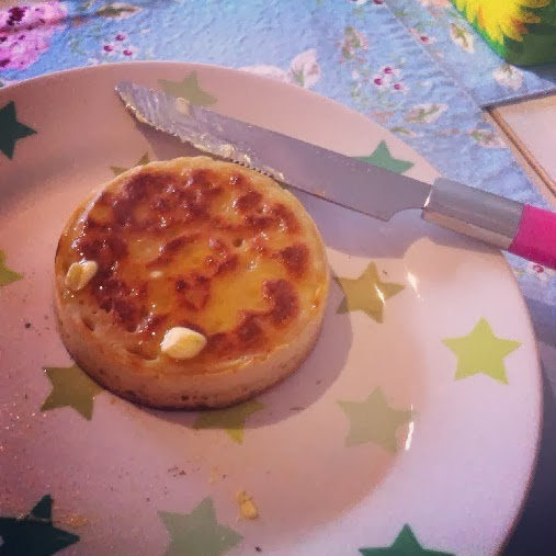 Baking crumpets recipe - the result!