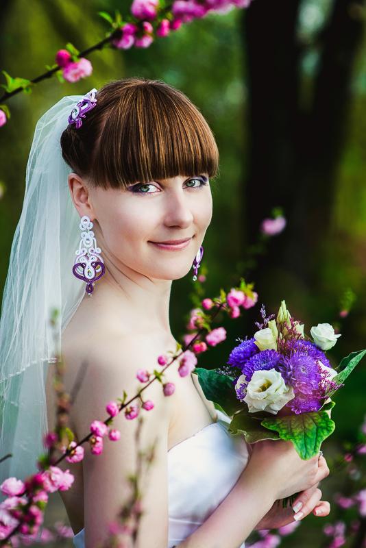 Orientalne kolczyki ślubne sutasz