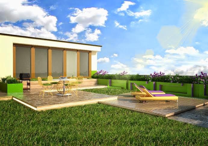 ogrody na dachach projekty, projektowanie, ogrody, dach, duzy taras