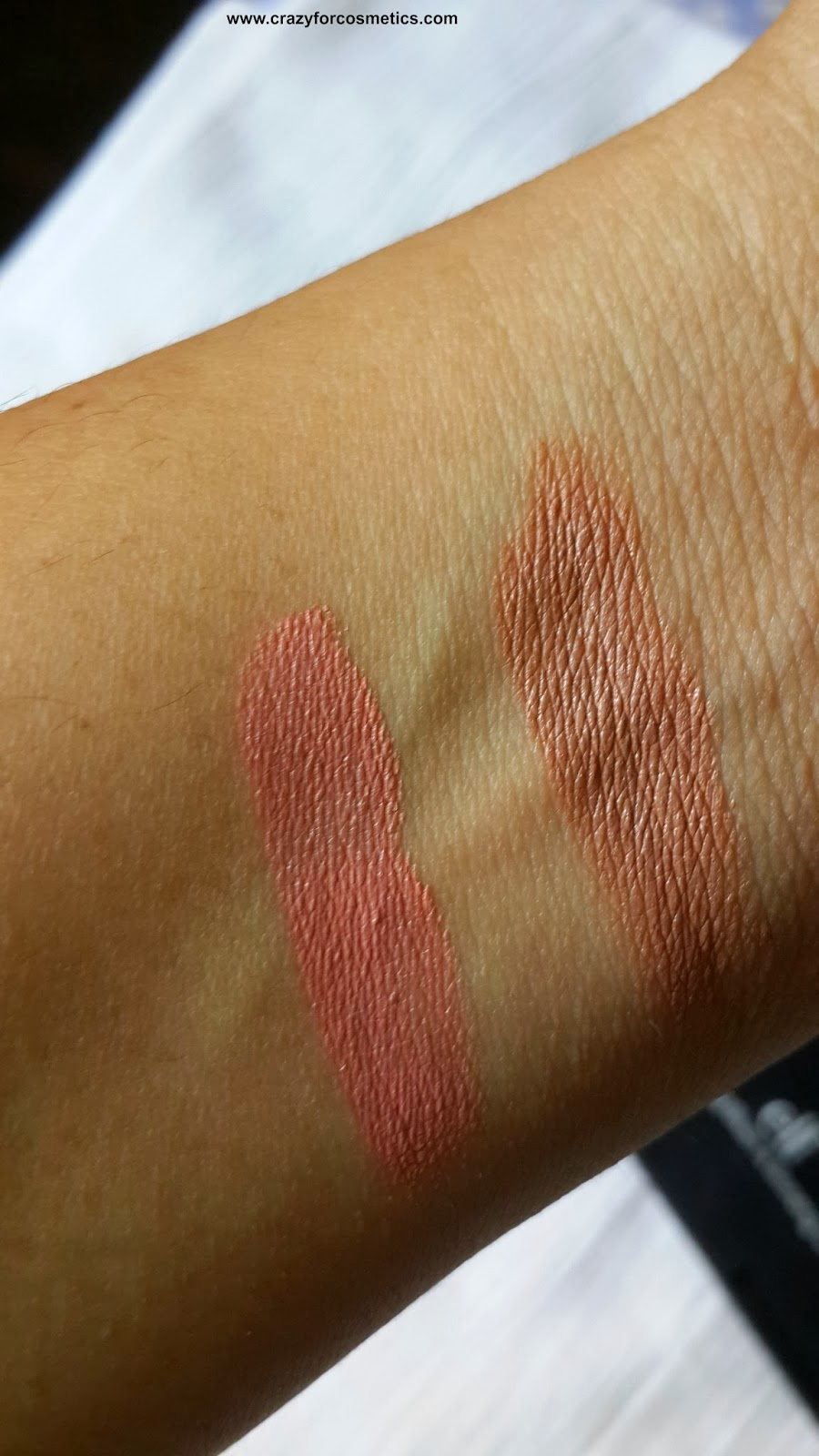 ELF Cream Blush & bronzer Swatch