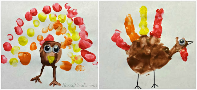 fingerprint and handprint turkey craft