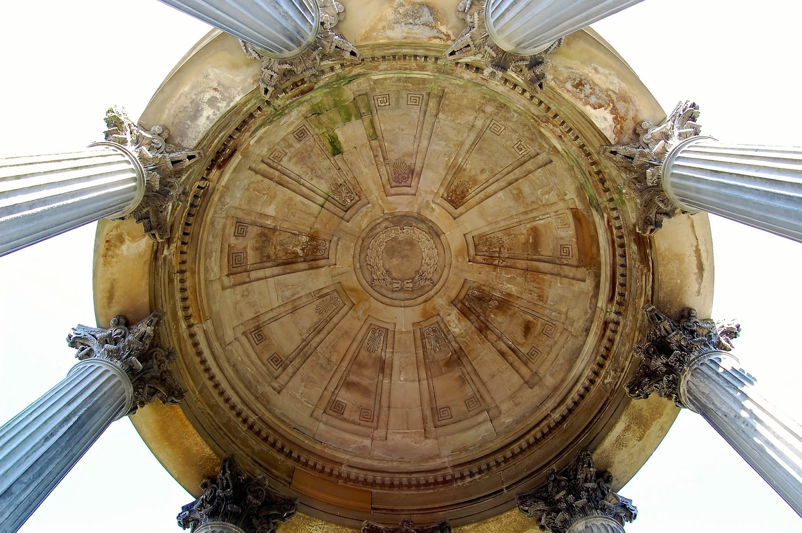 Soffit of the Burns Monument dome