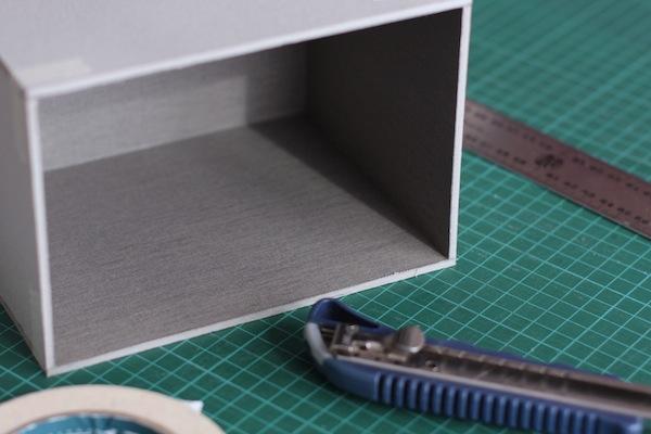Ro Guaraz · caja de recetas · 04 · forrar interior y armar caja