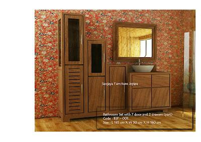 furniture Kamar mandi set 7 pintu dan 2 laci