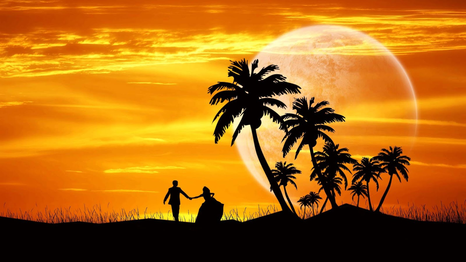 Lovely Couple Dance Evening 1920x1080 Wallpaper