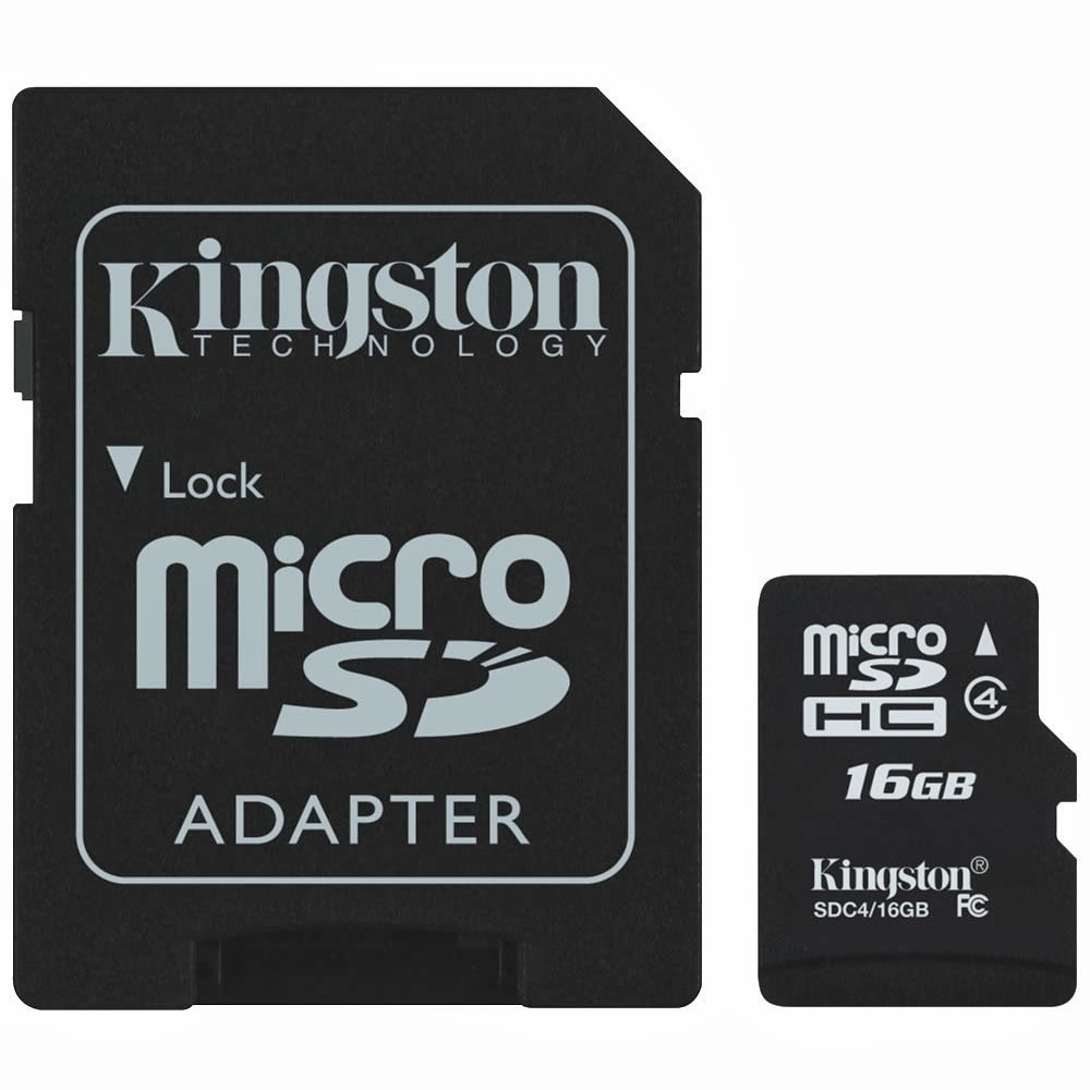 Memoria Micro SD 16Gb Kingston 1 Adap Clase 10