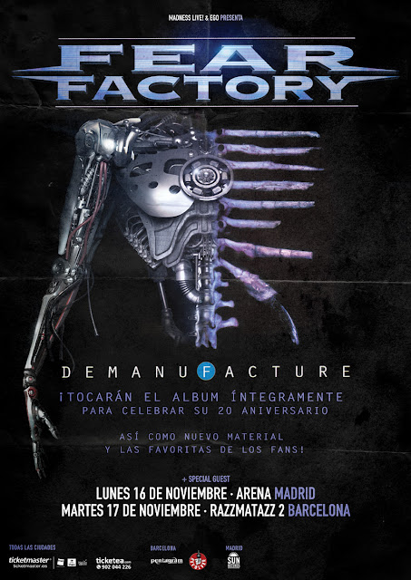 Fear Factory gira Demanufacture