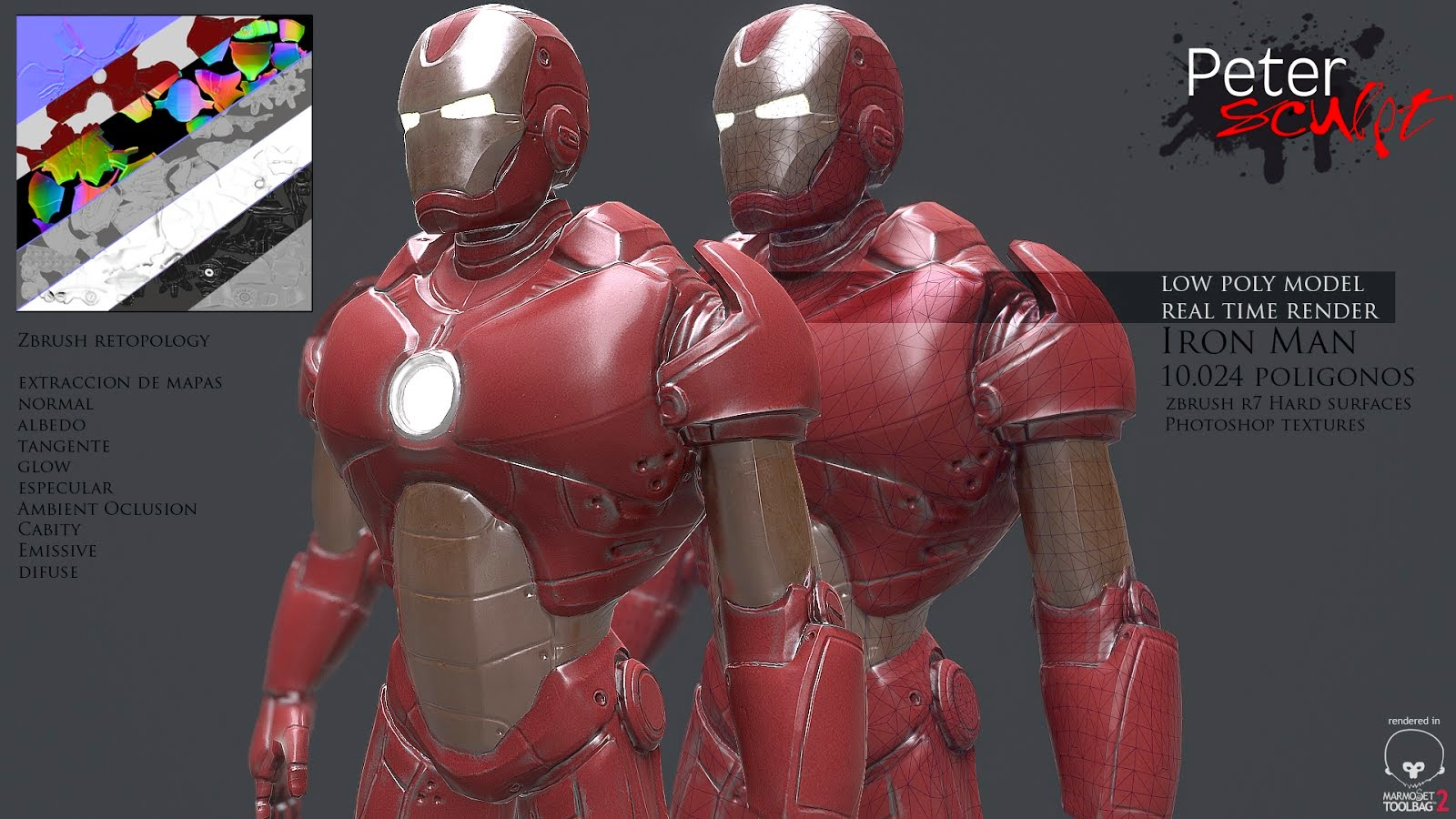 ironman low poly2