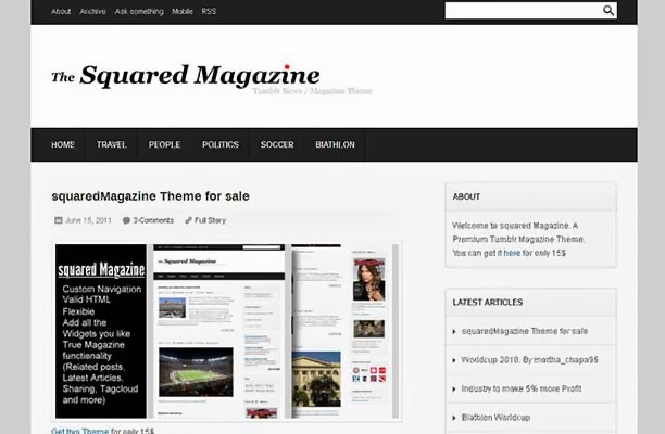Squared Magazine - Tumblr News / Magazine Theme