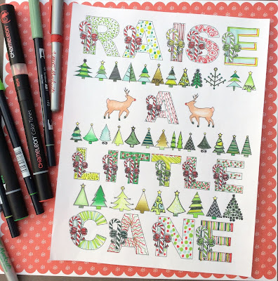 raise a little cane Christmas coloring page stefanie girard