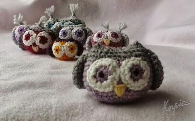 szydełkowe sowy amigurumi owl