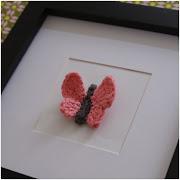 DIY stor og lille hæklet sommerfugl