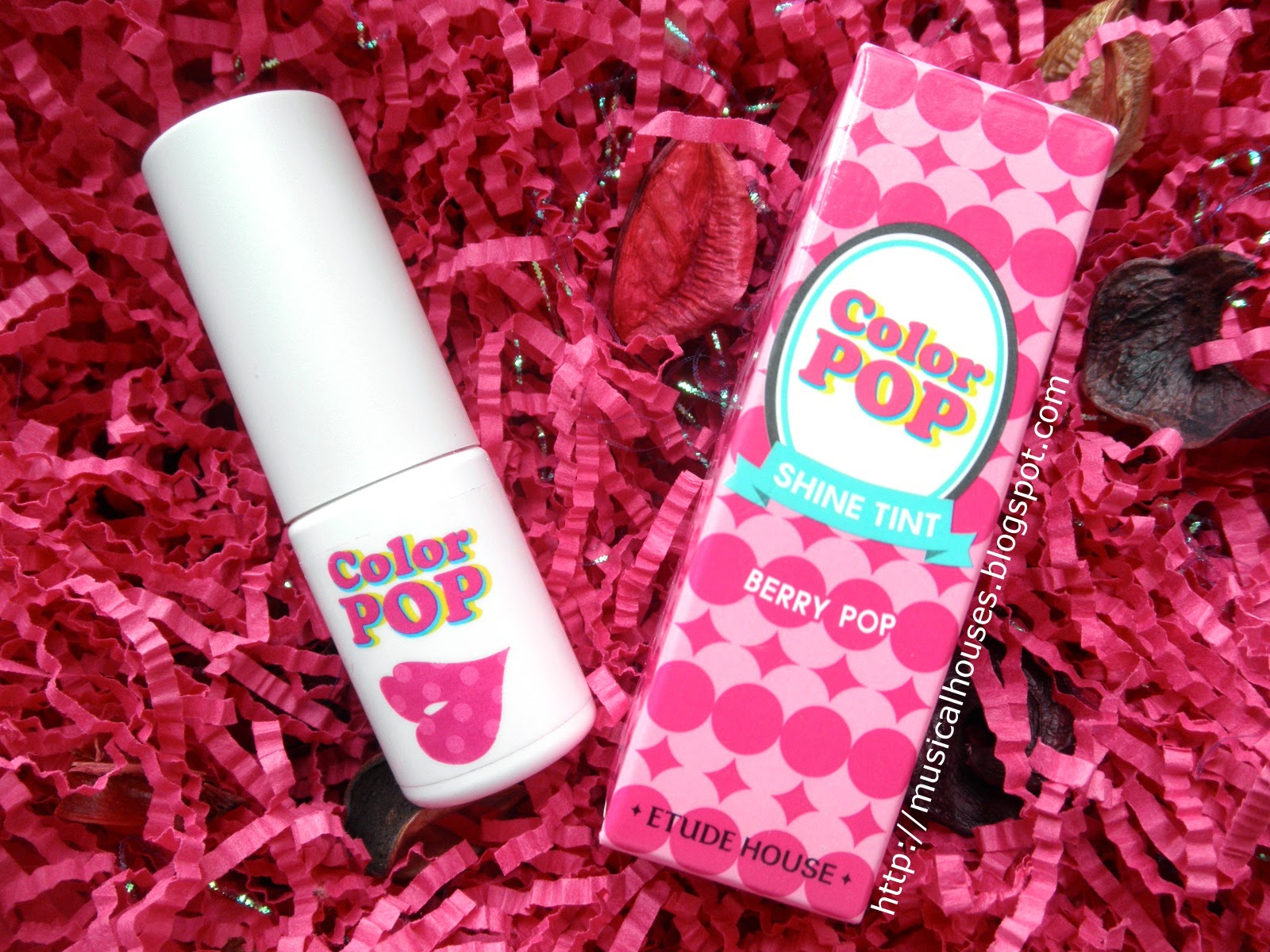 Etude House Color Pop Lip Tint Review and Swatches: #08 Berry Pop ...