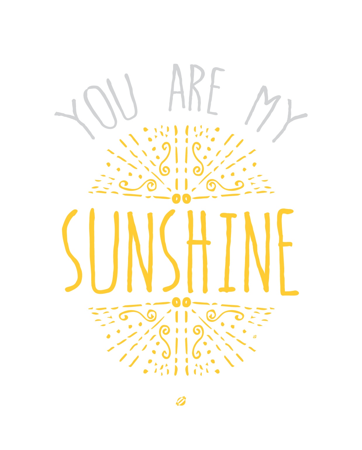 LostBumblebee ©2015 MDBN You are My Sunshine :: Free - donate to download - Printable :: Home Decor :: Personal Use Only.