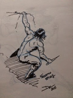 Man on Rock by Del Teigeler, Mavfire