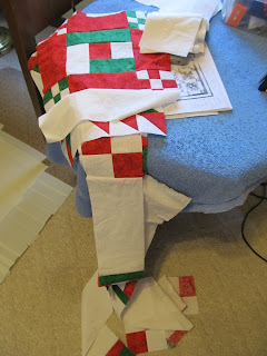 Holiday Quilt Patterns in Red and Green