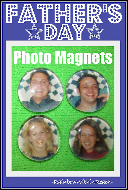 photo of: Father's Day Craft: Photo Magnets, DIY Tutorial Instructions
