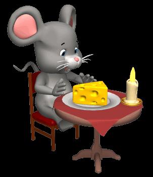Desenho de rato colorido