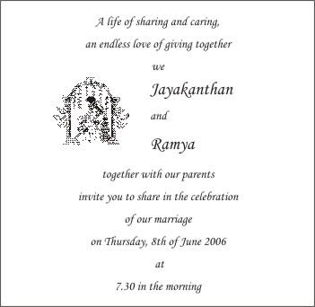 Phrases for Wedding Invitations