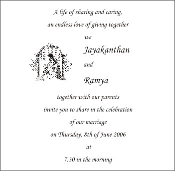 Indian Personal Wedding Invitation Wording For Friends