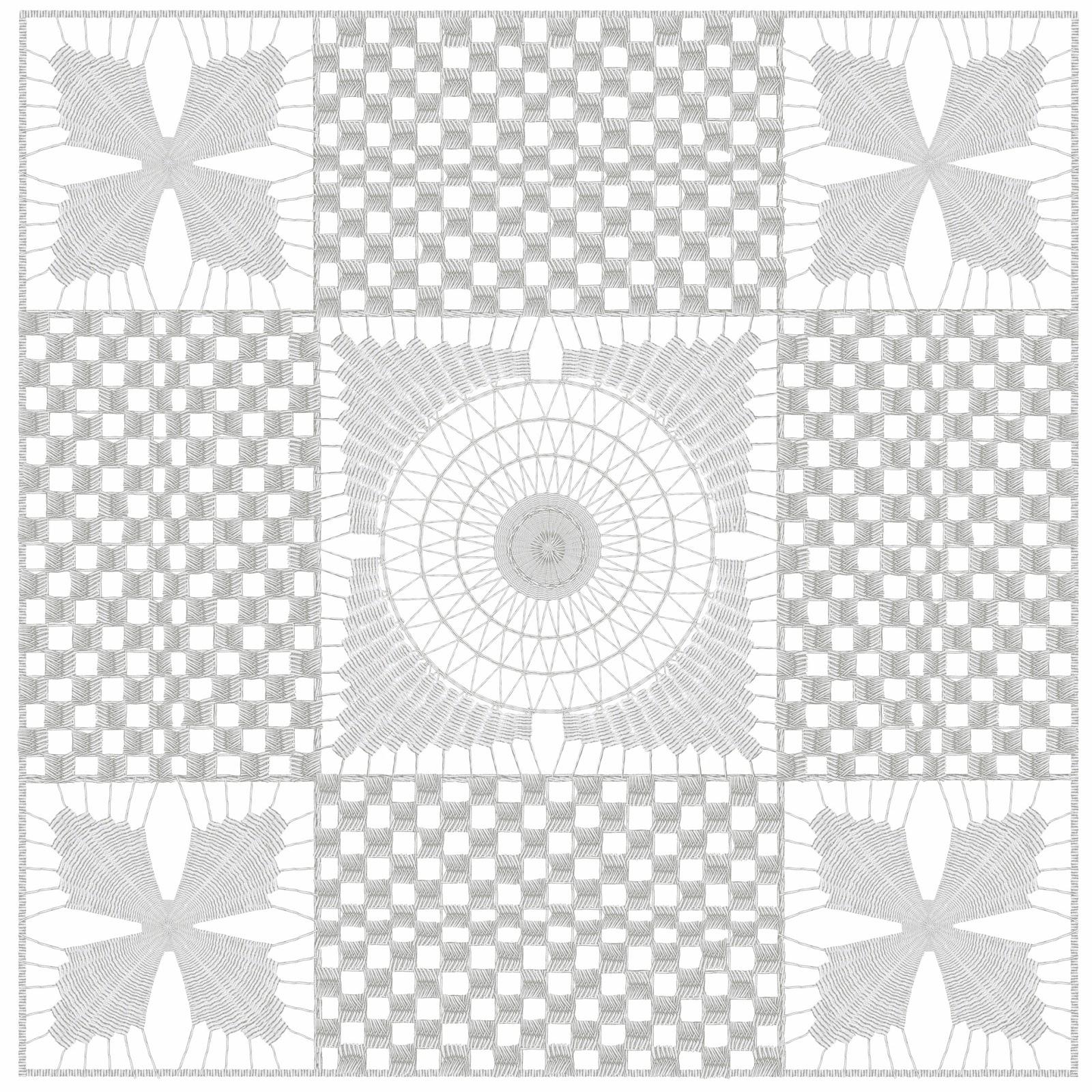 hilorama 3,  Congo, geometrias, hilo, dibujo
