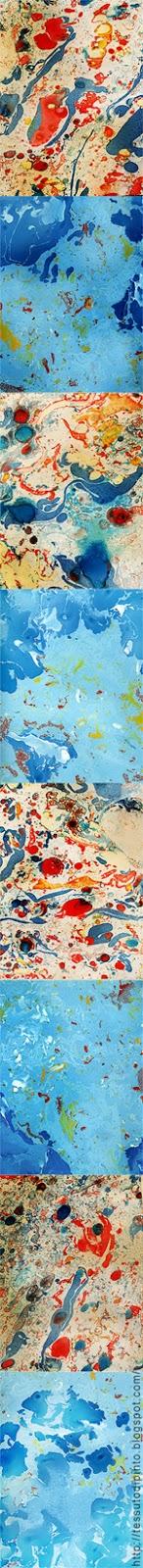 Colori e sfumature create con la marmorizzazione della carta