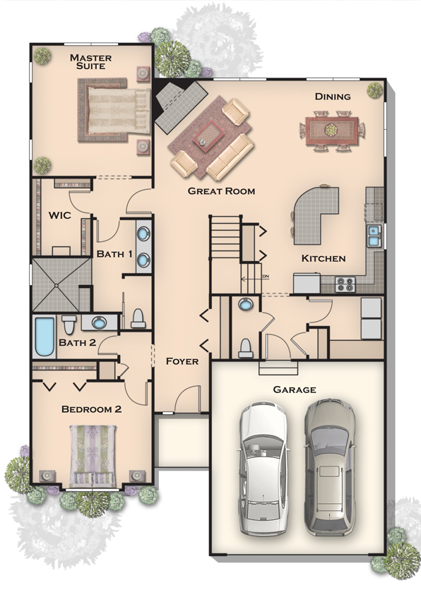2d architectural renderings 2d floor plan renderings Rendering floor plans