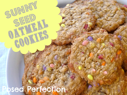 Posed Perfection: Sunny Seed Oatmeal Cookies
