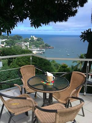 Café Terrasse: a vista da Baía de Todos os Santos (foto retirada do Facebook)