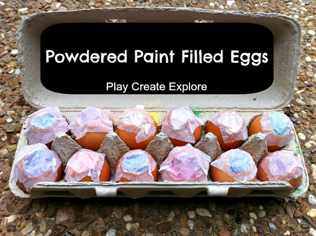 Powdered Paint Filled Eggs