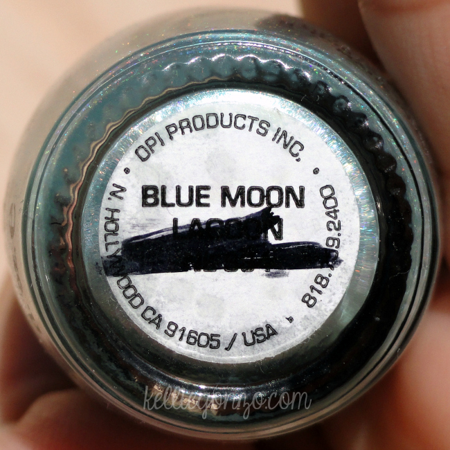 OPI Blue Moon Lagoon label
