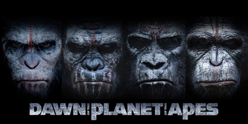 Imagen promocional de El Amanecer del Planeta de los Simios.