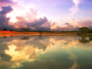 Clouds Over Lake wallpaper