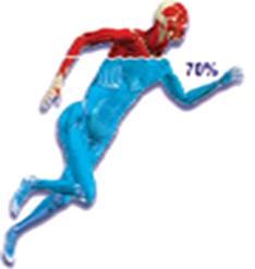 Tubuh manusia terdiri dari 70%