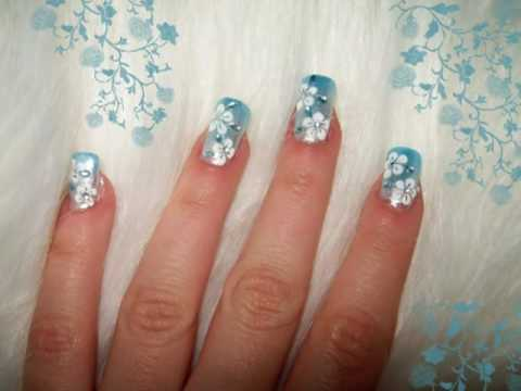 Acrylic nails flower nail designs flower nail designs prinsesfo Image collections