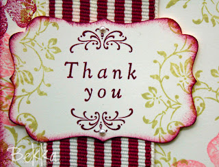 Vintage Vogue Wedding Sweet Thank You Detail