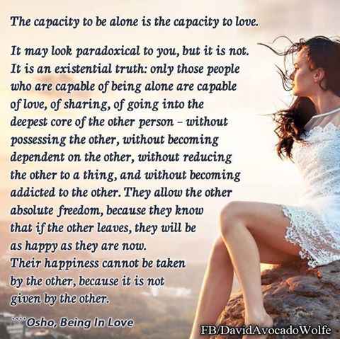 the capacity to be alone as Friday, 27 february 2015 the capacity to be alone.