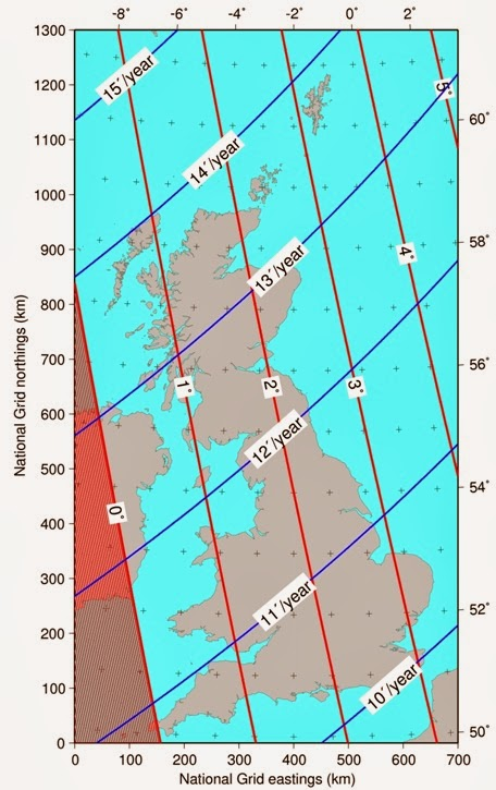 GeoBlogy Somethings Happening To Magnetic North In Great Britain - 2017 magnetic declination map of the us