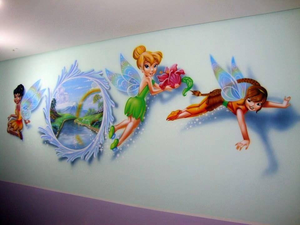 Fernando Pow Pintura em Quarto de Bebê e Criança - Sininho, Fadas e o Portal.