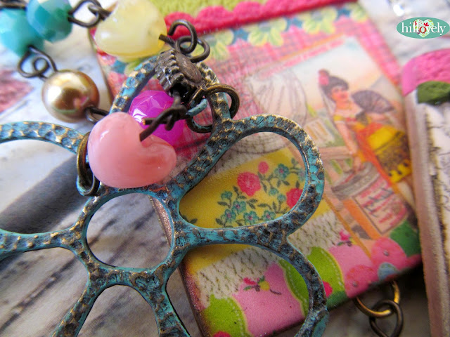 fimo,polymer clay, pendant,hilla bushari, hillovely, transer paper