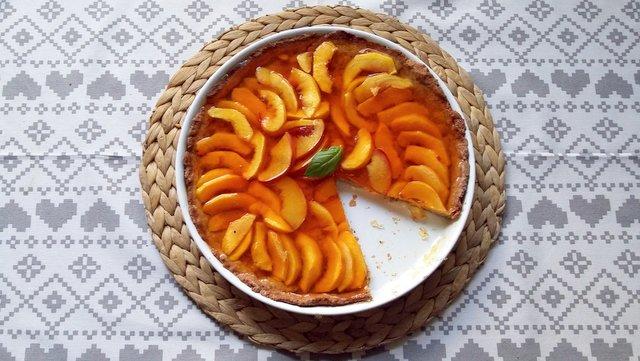brzoskwiniowa tarta