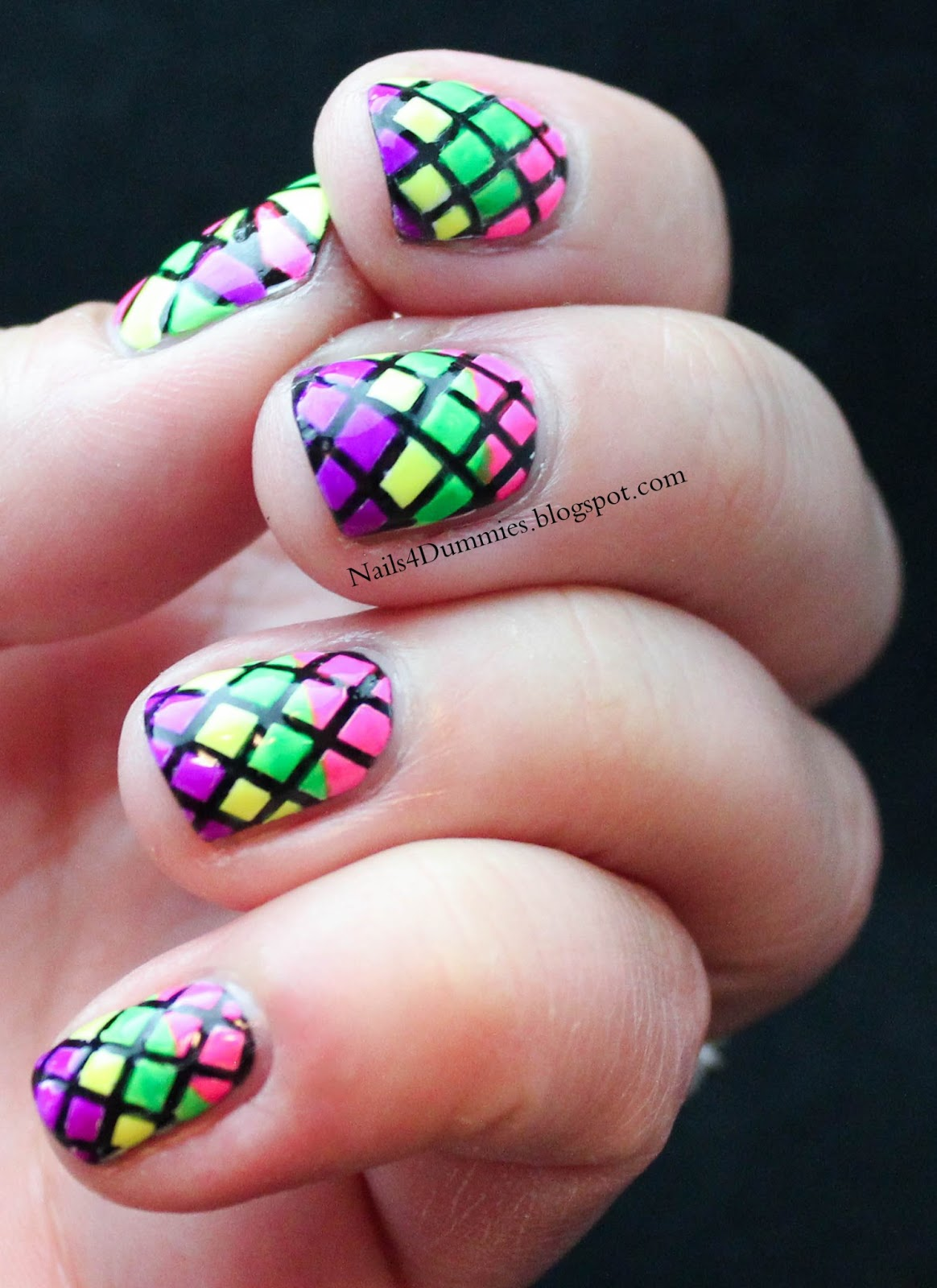 Nails 4 Dummies!: Stained Glass Nails