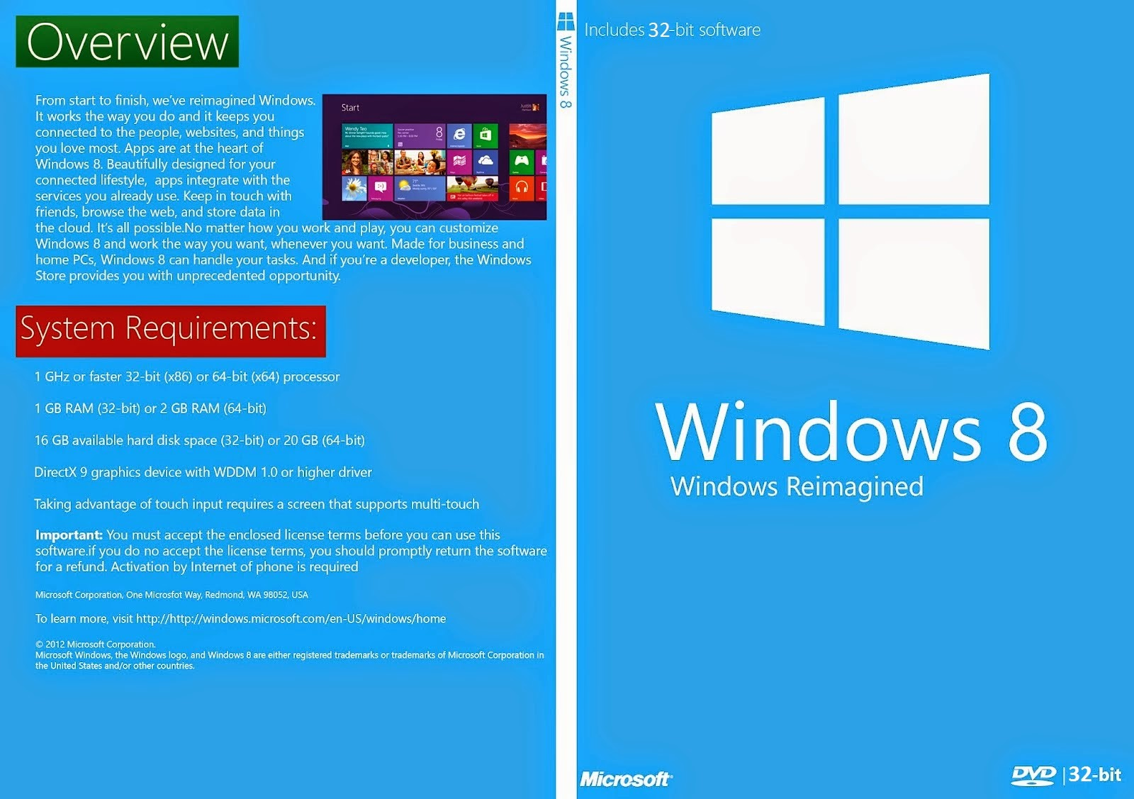 Windows 8 x86 Bits DVD Capa