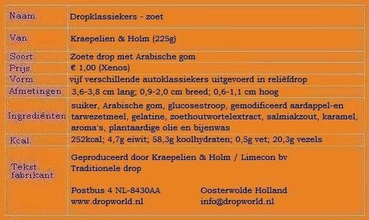 Dropklassiekers - zoet