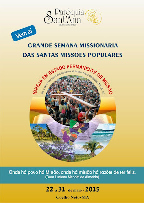 FOLDER OFICIAL DAS SANTAS MISSÕES POPULARES