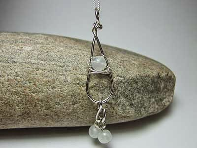 Rainbow moonstone handmade jewellery