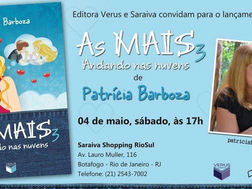 Lançamento de As MAIS - Andando nas Nuvens, Patrícia Barboza e Verus Editora no Rio de Janeiro