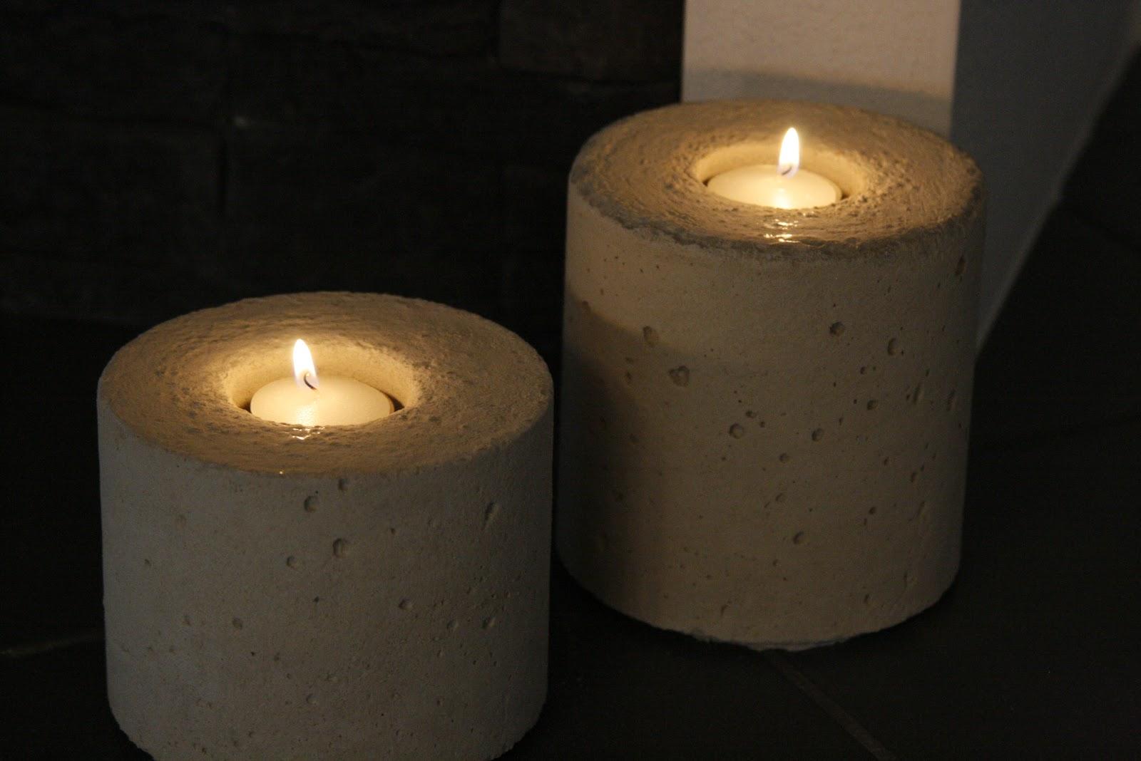 strickmadlas abenteuer beton kerzenhalter. Black Bedroom Furniture Sets. Home Design Ideas