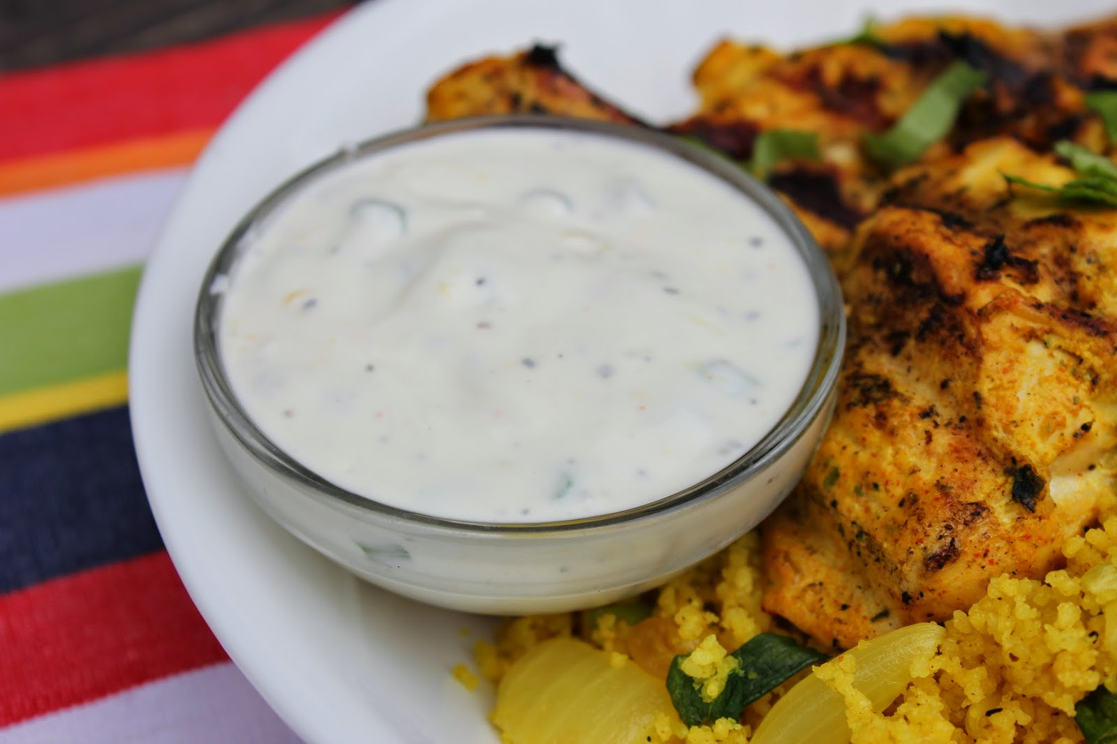 Tandoori Chicken With Yogurt Sauce Recipe — Dishmaps