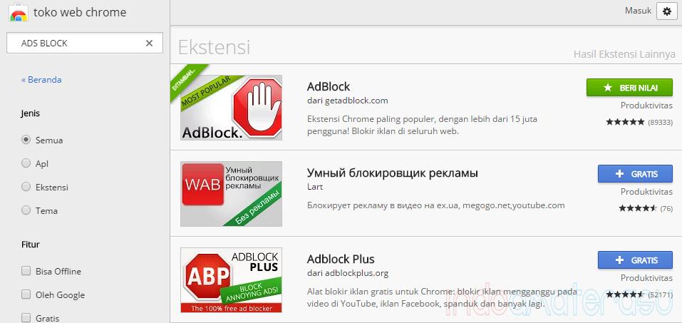 AdBlock ~ Cara Menghilangkan/ Block Iklan di Web/ Blog 2